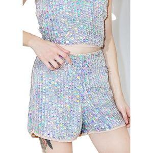 Dolls Kill Disco BB Sequin Shorts